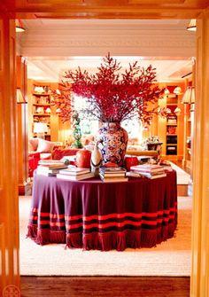 Tory Burch Home- Skirted Table