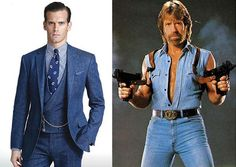 Check out this all-denim suit from Ralph Lauren. Is this the Chuck Norris style comeback we've all been waiting for?