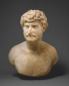 Marble bust of a bearded man, ca. A.D. 150–175. Roman, Mid-Imperial, Antonine. The Metropolitan Museum of Art, New York. Rogers Fund, 1998 (1998.209) | This bust of a vigorous middle-aged man with sharply turned head and piercing gaze is a splendid example of psychological portraiture and conveys an impression of intense concentration. #mustache #movember