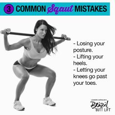 Don't make these 3 common #squat mistakes or you'll ruin your progress! #motivation #fitspo #fitness