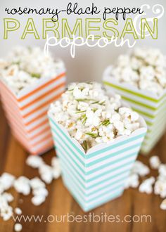 Rosemary, Black Pepper, & Parmesan Popcorn from Our Best Bites