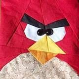Red angry bird PDF paper pieced quilt block
