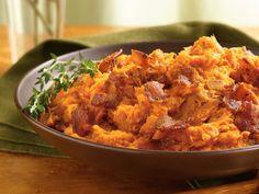 Mashed Sweet Potatoes w/ Bacon