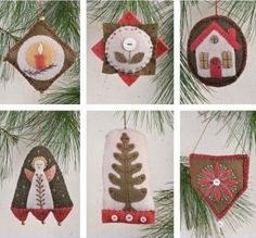 indygo junction, felt christma, craft, pattern, hearths, felt ornaments, holidays, homes, christmas ornaments