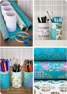 Dekorerade pennburkar / DIY Decorated pen holders - Craft & Creativity