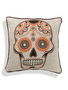 skulls, roomservic pillow, idea, feel gilti, sugar skull, skull pillow, homes, pillows, halloween