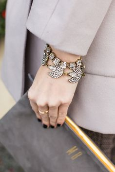 the clutch, the nails, and the jewels...perfect