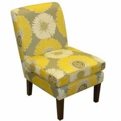 gray and yellow chair