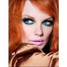 red hair, blue eyes