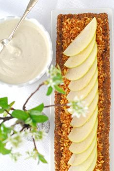 Asian Pear & Green Apple Raw Tart w/ Apple Cream-Japan in our Hearts | The Alkaline Sisters