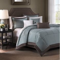 Cascades 6-Piece Duvet Set - Blue - Bed Bath & Beyond