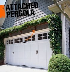 An attached pergola, as its name suggested, is affixed to another structure, most often a home or garage. As with the freestanding variety, a pergolas usually covered with climbing vines and greenery.