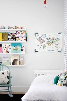 kids room - shelves