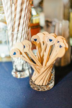 custom stir sticks | Brooke Images #wedding