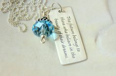 Future Quote Graduation  2012 Pendant by whiteliliedesigns on Etsy, $41.00
