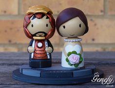 Cute super hero wedding cake topper  Bride and by GenefyPlayground, £78.00