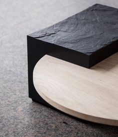 Furniture collection made from natural stone and solid oak.