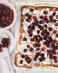 rustic cherry tart with ricotta and almonds -- martha stewart