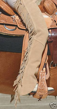 Western Horse Show Saddle Suede Chaps