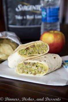 Avocado Chicken Salad Wrap