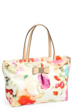 It's like a piece of art. Watercolor washed tote by Kate Spade.