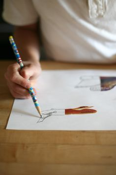 magazine art - the child finishes the picture however they want