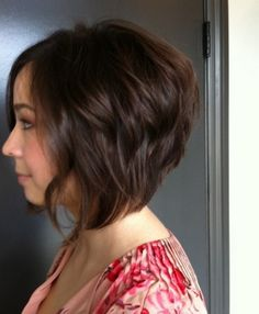 Stacked bob haircut @ Daquila Hair Color Studio, Specializing in Balayage and Keratin Treatment