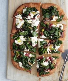 Swiss Chard and Ricotta Pizza recipe