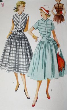 1950s Simplicity 4210 Full Skirt Dress by BluetreeSewingStudio, $12.00