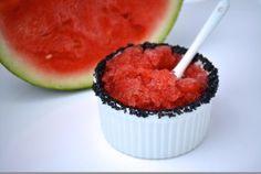 Paleo Watermelon Granita, made with just watermelon and salt