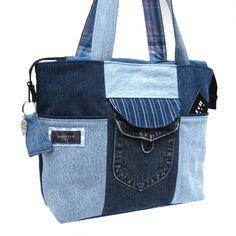 Cute bag/without pattern ( @Erika * * * * Stephaich ) etsi, bagwithout pattern, bolso, denim bag, keepsak bag, recycled totes, satindollaccessori, bolsa jean, bags