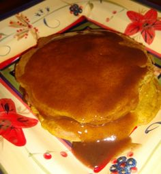 Pumpkin Pancakes with Cinnamon Syrup