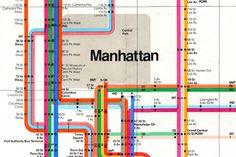 1972 nyc subway map [detail] | massimo vignelli