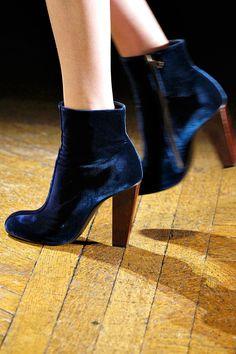 Dries van noten winter 2012 / blue suede shoes...