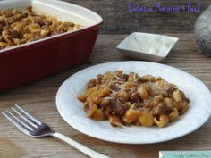Barbecue Macaroni and Beef --5 ingredients and kids love it!