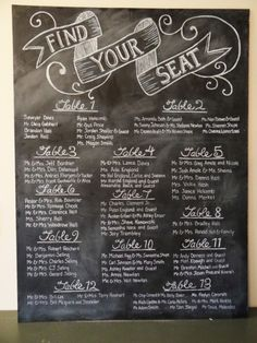 Chalk board painted wooden sign for seating? Cheaper than place cards at each seat, or am I supposed to do those also?