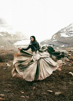 Bohemian Diesel: FORCE OF NATURE hyoni kang, december, mountains, fashion, skirts, dress, beauty, magazin, chris nichol
