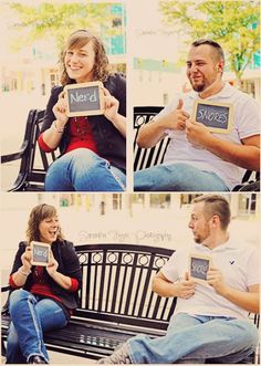 Samantha Fagan Photography: cute couple photo ideas using chalkboards and funny words