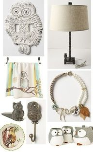 Owl decor Ashley Farrow Padgett