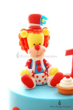 Circus Clown Lion Cake Topper
