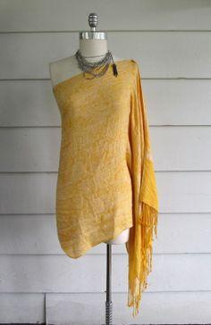 Off the Shoulder Scarf Shirt / Dress. DIY