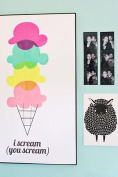 Transparency Sheet Ice Cream Art abeautifulmess.com