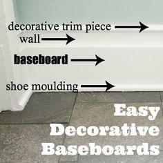 easy DIY decorative baseboard tutorial
