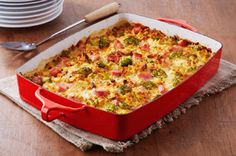 Ham and Broccoli Casserole recipe - This delicious casserole can be refrigerated up to 24 hours before baking as directed.