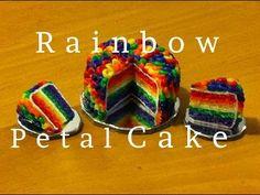 Polymer Clay Rainbow Petal Cake Collab with Glossy Apple Design (Maive Ferrando)