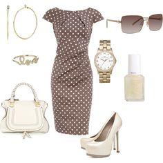 chic work attire, created by julieelesa
