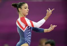 We loved Aly Raisman in this American flag leotard. Shades of Mary Lou Retton.