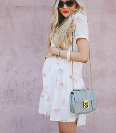 Maternity - watermelon print dress