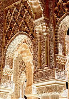 understructure: Alhambra Palace, Granada, Spain...