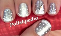 Snowman Nails @Jess Pearl Liu Brandon